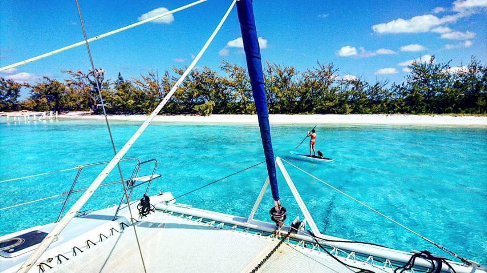 croisiere en catamaran sur un 42 pieds sur exuma aux bahamas