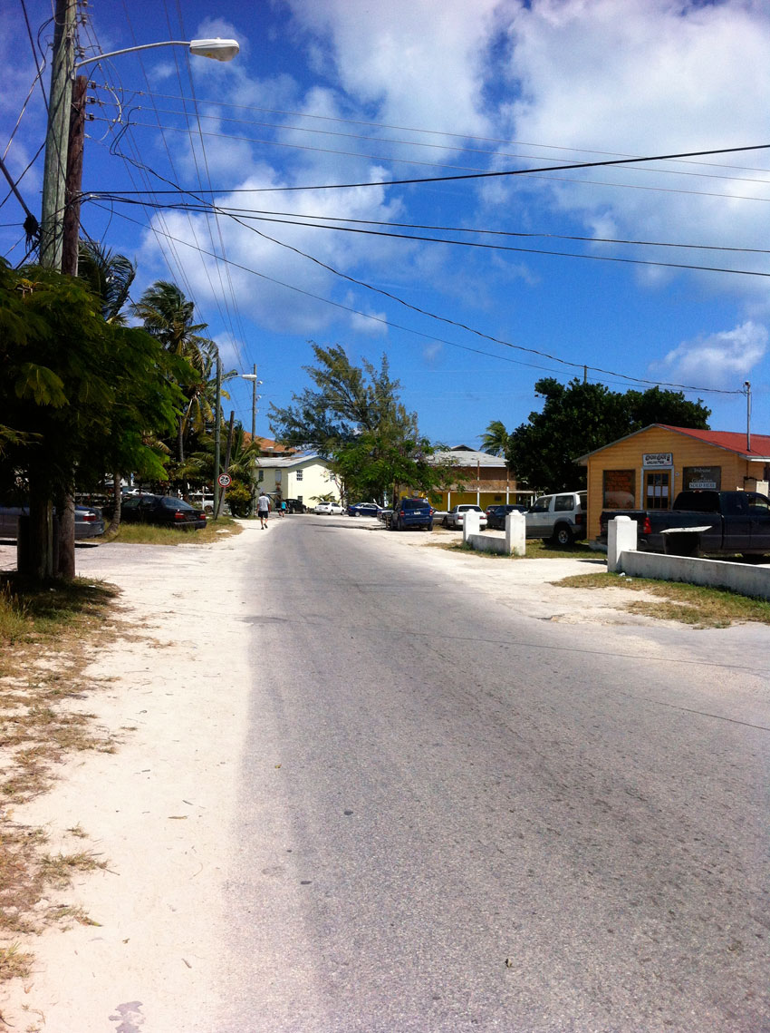 street in exuma next to our resort