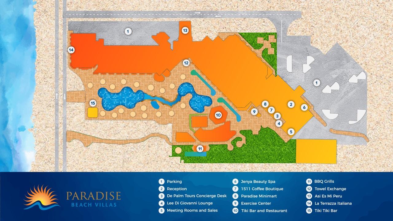 Property Map Paradise Beach Villas