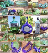 Upcycled glass lampwork Bottle Beads