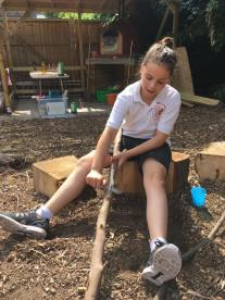 Whittling and Stage Combat Working Hard
