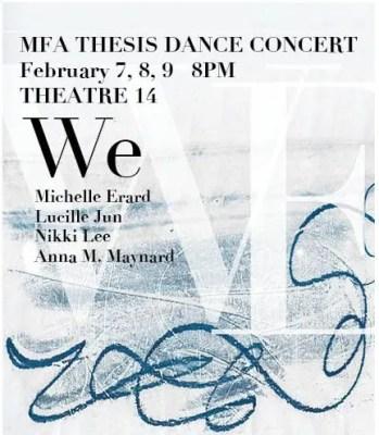 We: MFA Thesis Dance Concert