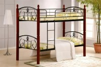 wood and metal bunk bed 2