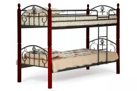 wood and metal bunk bed 3