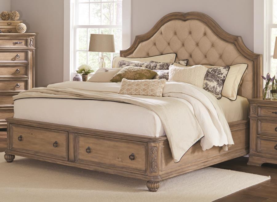 Ilana Storage Upholstered Bed Paradise Furniture Store