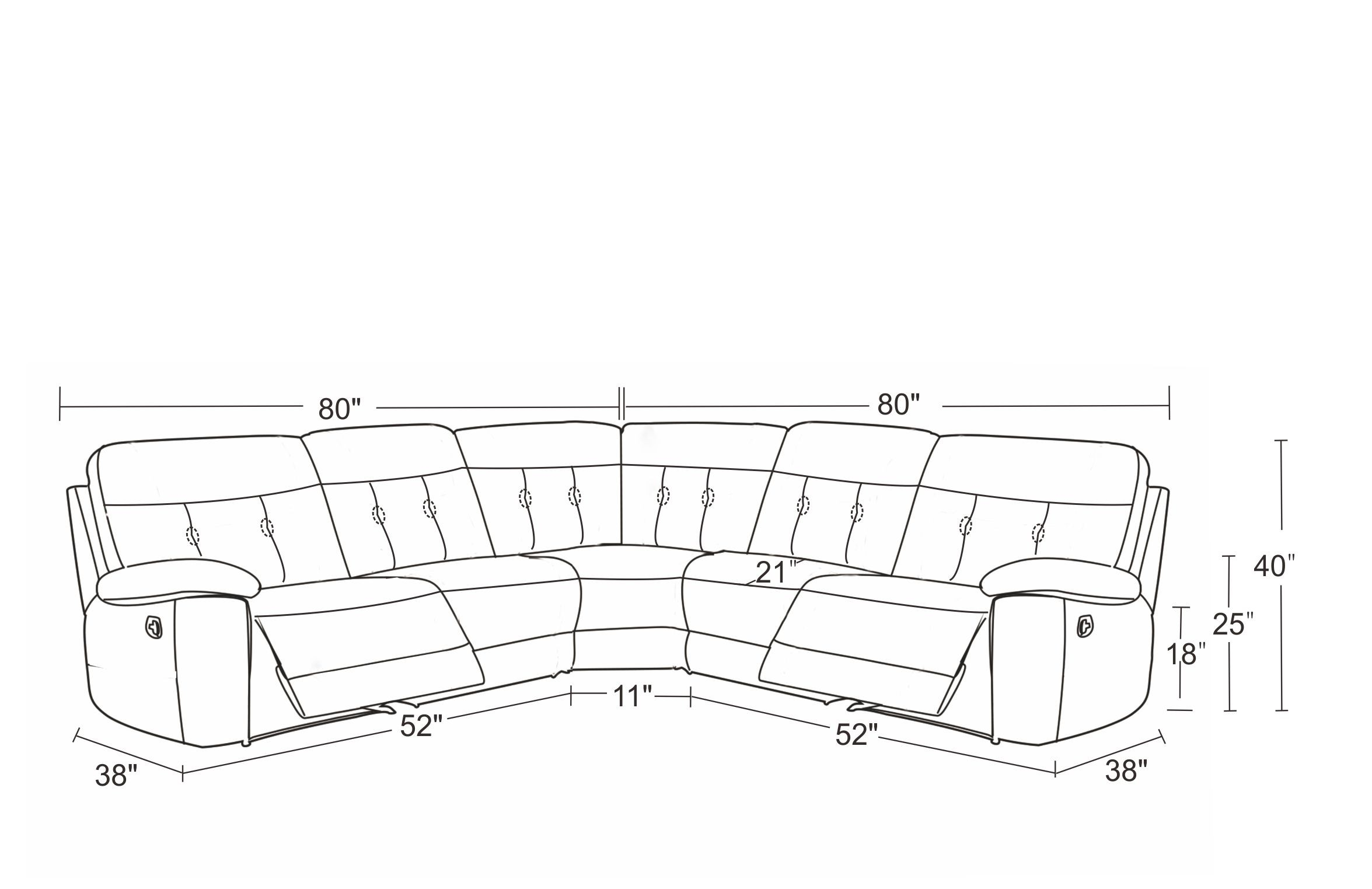 Black Recliner Sectional