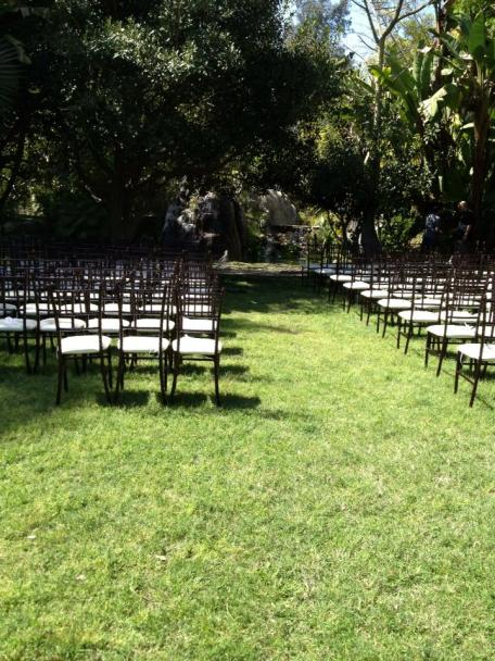 Ceremony at the waterfall - Chairs by Anything But Ordinary