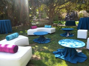 Lounge furniture! Beautiful touch and used all night long. Rented from Allies Party Rental. www.alliesparty.com
