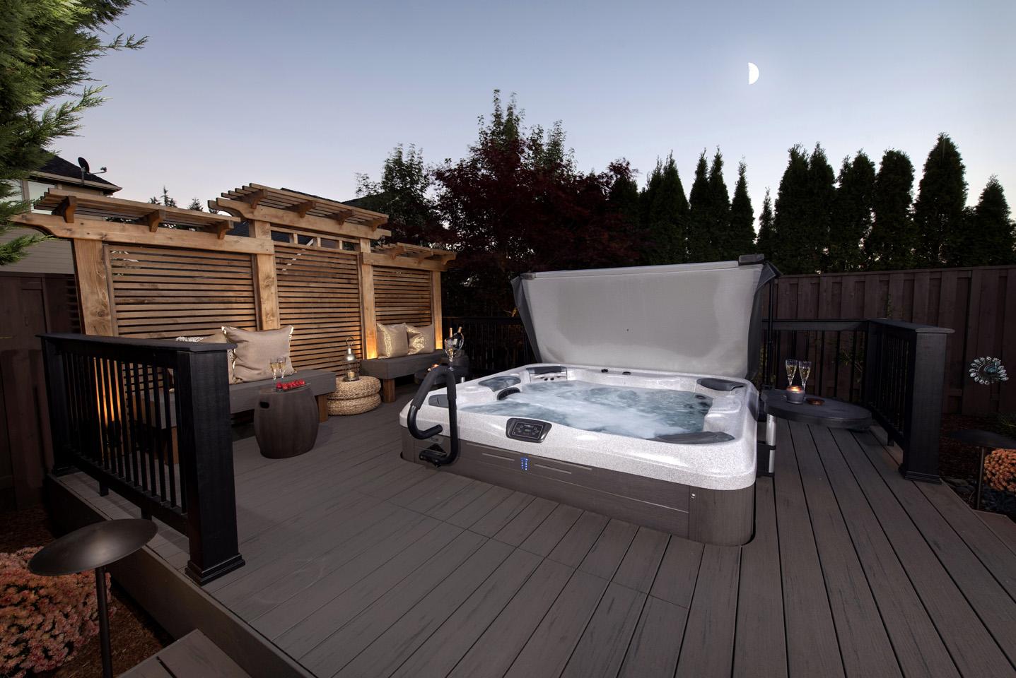 hot tub deck ideas paradise restored