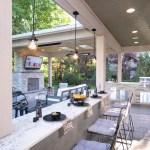 Outdoor Kitchen Pendant Lights Paradise Restored Landscaping