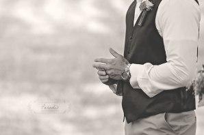 Groom Ring firefighter Maine wedding back yard Paradis Photography