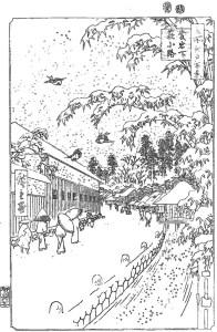 歌川広重 Utagawa Hiroshige 塗り絵 coloring 浮世絵 ukiyo-e_Atagoshita and Yabu Lane-rinkaku03
