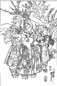 歌川国芳 Utagawa Kuniyoshi 塗り絵 coloring 浮世絵 ukiyo-e