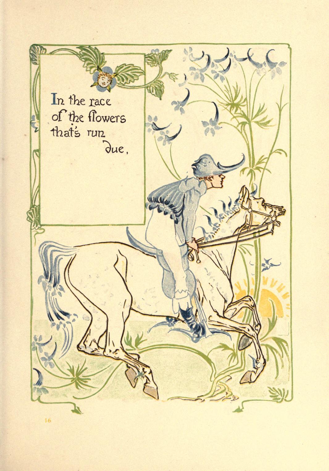 ウォルター・クレイン Walter Crane 古い英国の庭の花のファンタジー A floral fantasy in an old English garden-14