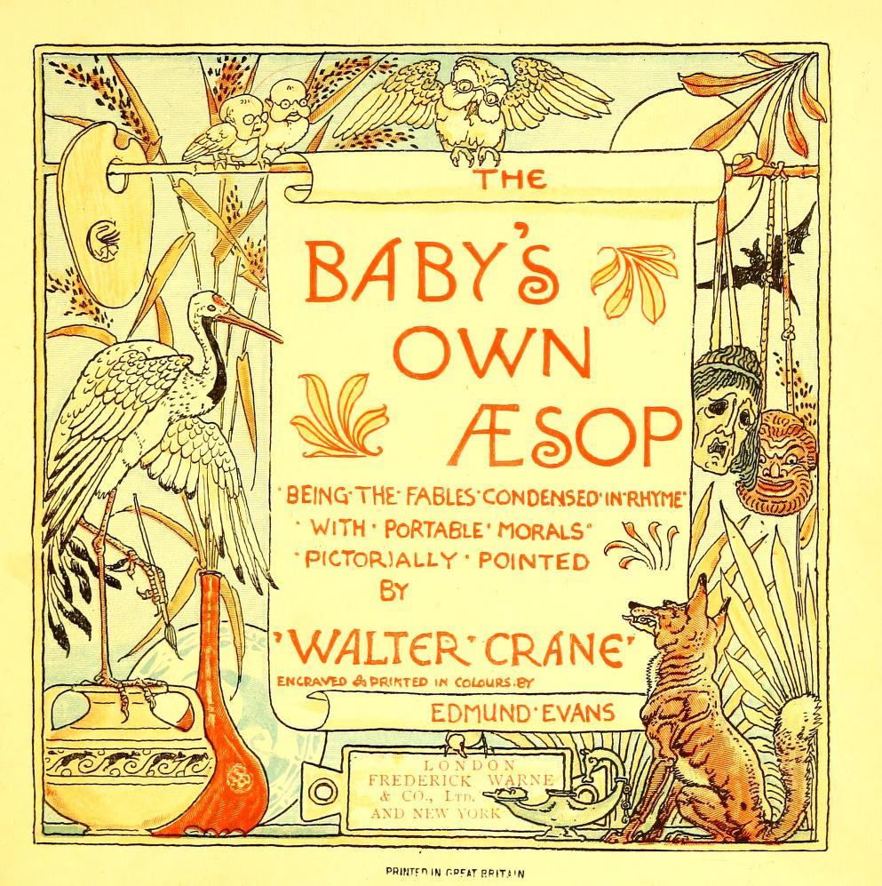 ウォルター・クレイン Walter Crane 幼な子のイソップ The baby's own Æsop