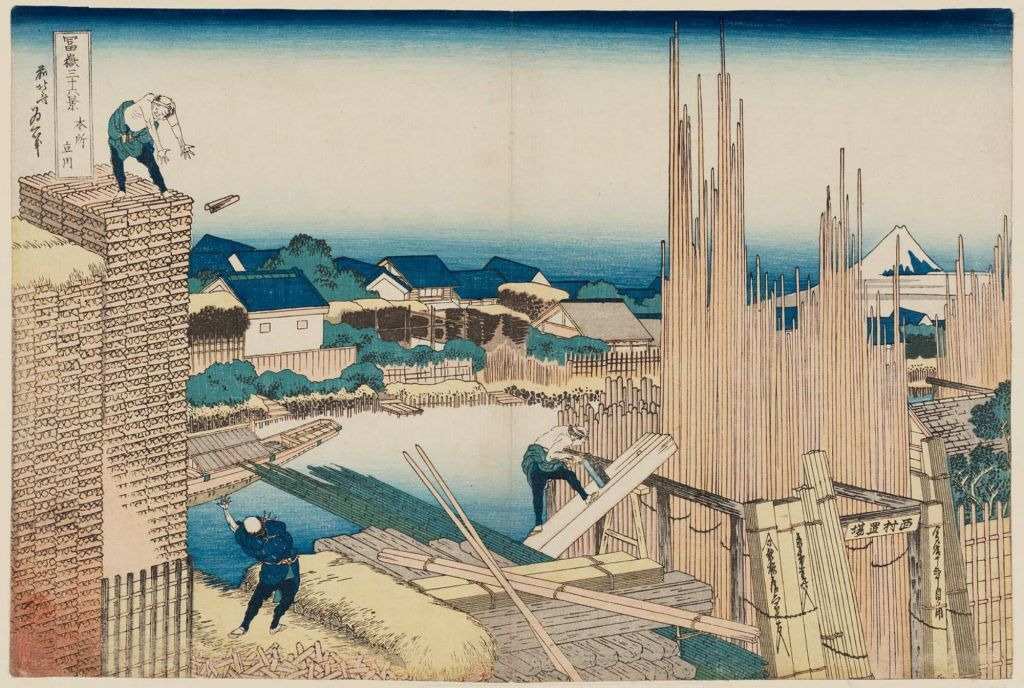 葛飾北斎 冨嶽三十六景 本所立川 hokusai_Tatekawa in Honjo (Honjo Tatekawa), from the series Thirty-six Views of Mount Fuji (Fugaku sanjûrokkei)