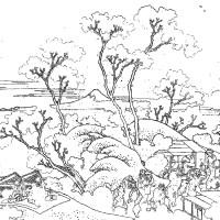 浮世絵の塗り絵 14(葛飾北斎)