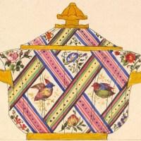 陶磁器のデザインの塗り絵