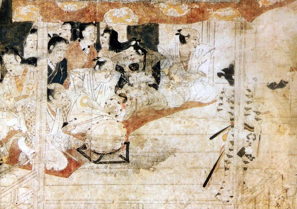 遊女歌舞伎図(出光美術館)