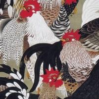 動植綵絵 20  群鶏図  Gunkei-zu (Fowls)