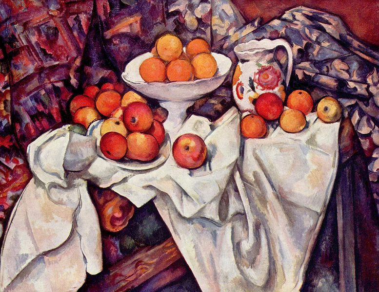 セザンヌ『リンゴとオレンジ』