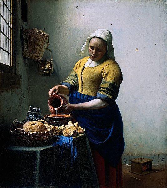 フェルメール『牛乳を注ぐ女』