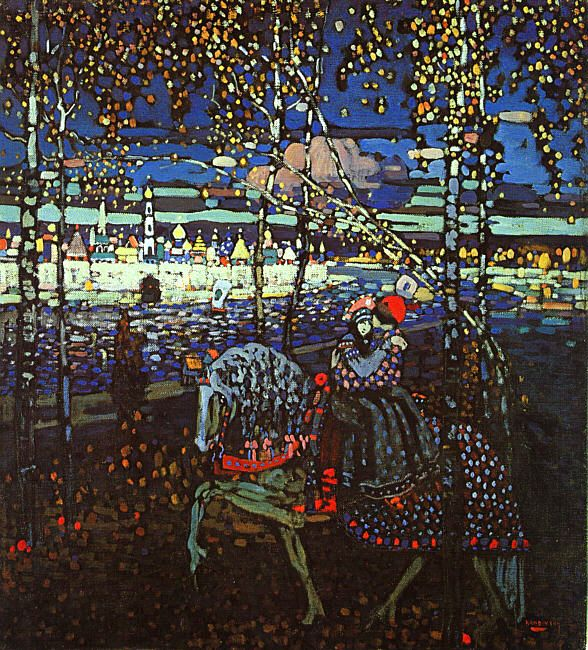 Kandinsky_Couple Riding-1906