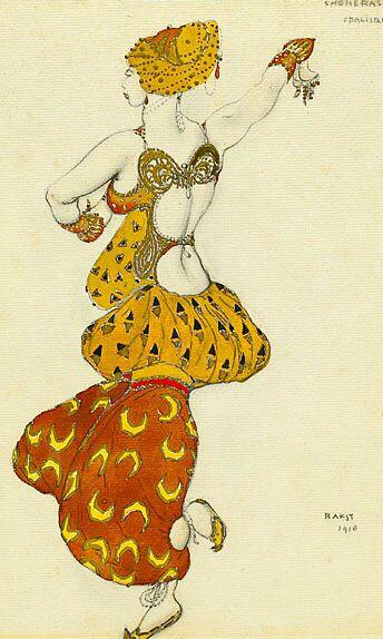 レオン・バクスト Leon Bakst Леон Бакст バレエ「シェヘラザード」 Scheherazade(リムスキー=コルサコフ作曲)衣装デザイン