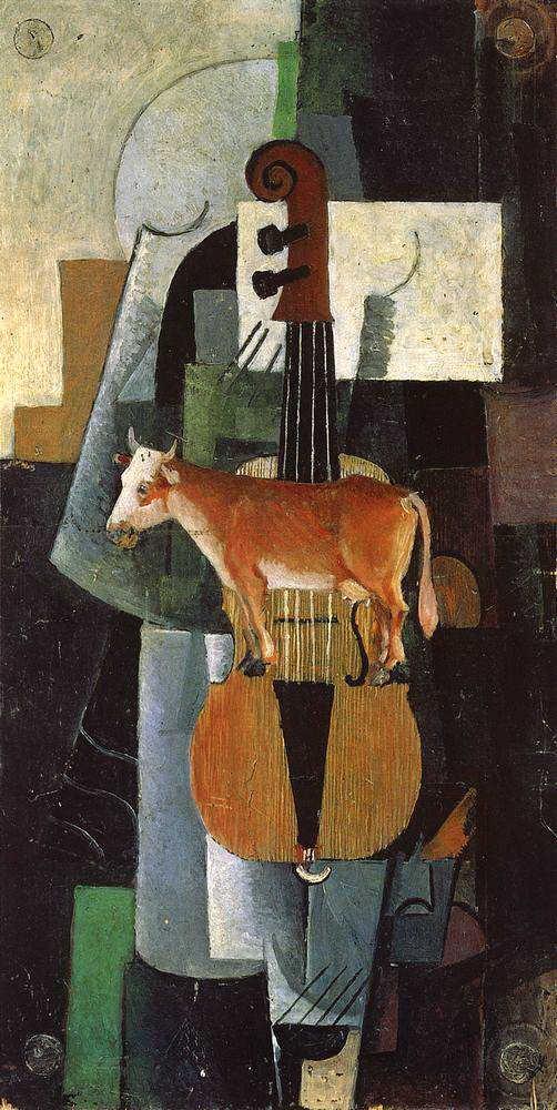 Malevich_cow-and-fiddle-1913