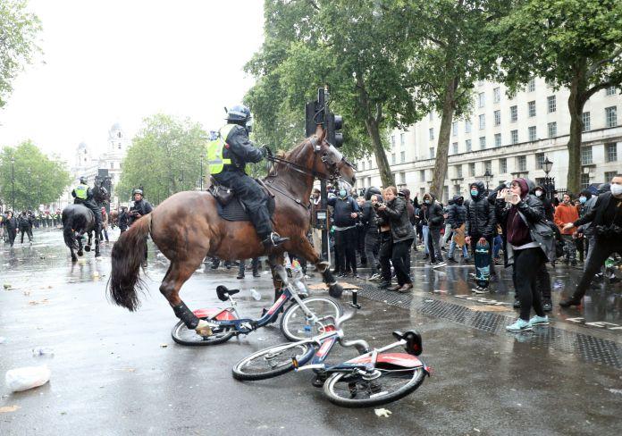 BLM vs policja w UK