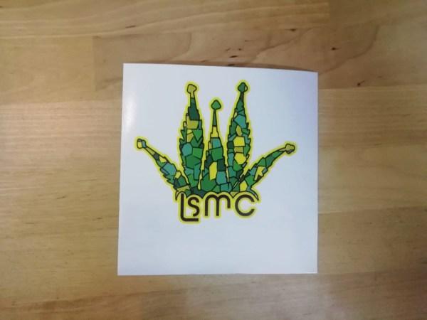Pegatinas con logo y nombre La Sagrada Maria Club edición 2021