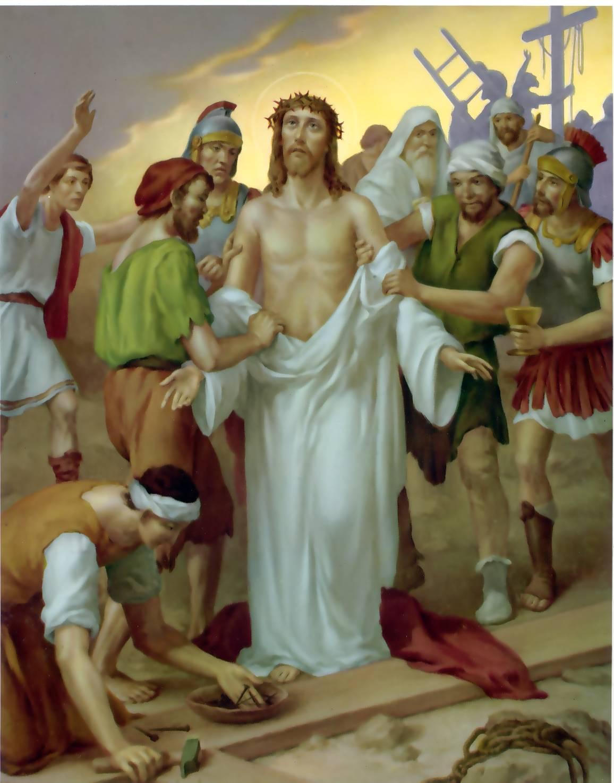 Znalezione obrazy dla zapytania STACJA X – JEZUS ODARTY Z SZAT