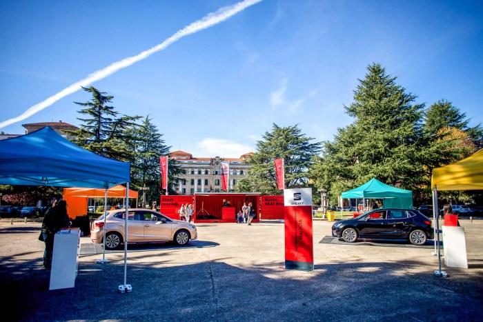 SEAT IBIZA UNIVERSITY TOUR MONTAJE CONTENEDORES EVENTO