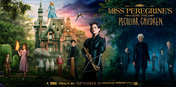 miss peregrine home for peculiar children - movie banner
