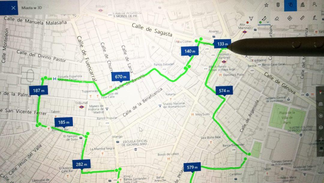 Przy pomocy MatePena wytyczyłem kilku kilometrową trasę.