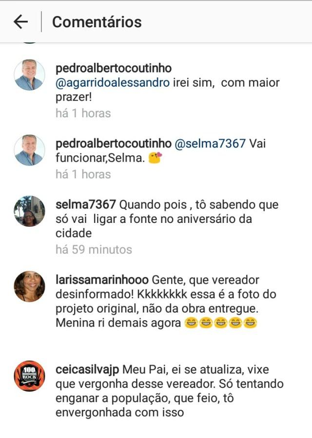 Aliado de Cartaxo enaltece obra da Lagoa e é 'bombardeado' nas redes sociais