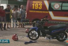 Mulher morre após moto derrapar e ser atropelada por carreta em CG