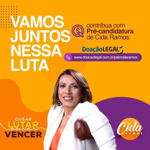 Cida Ramos lança 'vaquinha virtual' para financiar sua campanha à ALPB