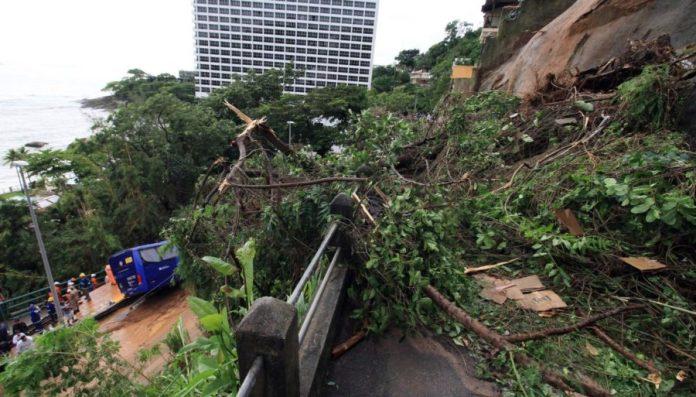 Temporal e ventos causam deslizamentos, derrubam 170 árvores e matam cinco no RJ