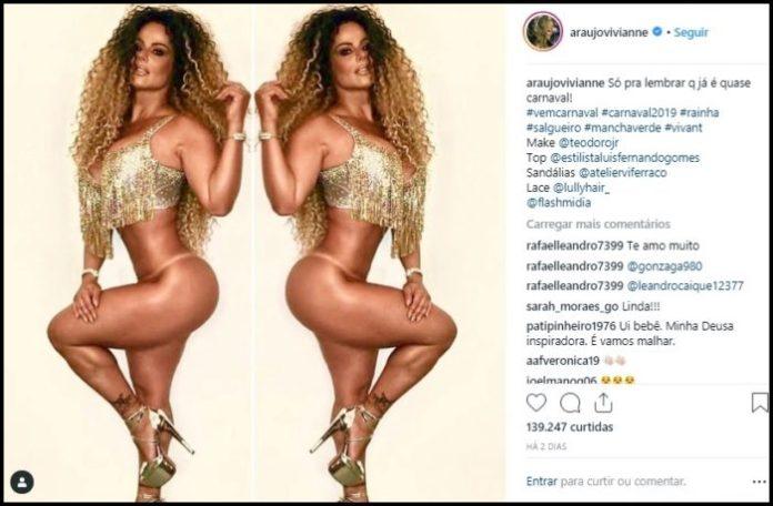Imagens: musa do carnaval posa sem calcinha e leva fãs ao delírio na web