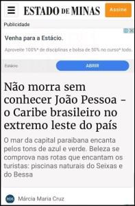 Mídia nacional define João Pessoa como o 'caribe brasileiro' no Nordeste
