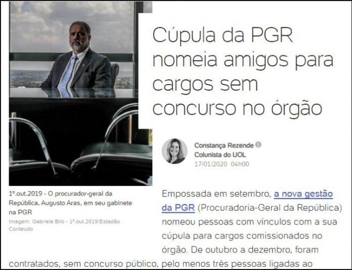 """Mídia nacional cita procurador paraibano por nomear """"amigos"""" sem concurso na PGR"""
