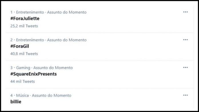 Após discussão, web pede a saída de Gilberto e Juliette do BBB 21