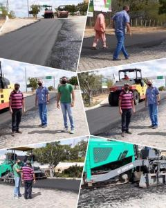 Prefeito de Parari agradece apoio de Adriano por obras de pavimentação