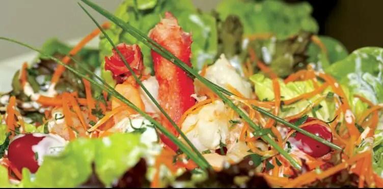Salada de Camarao
