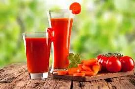Suco de Cenouras e Tomate