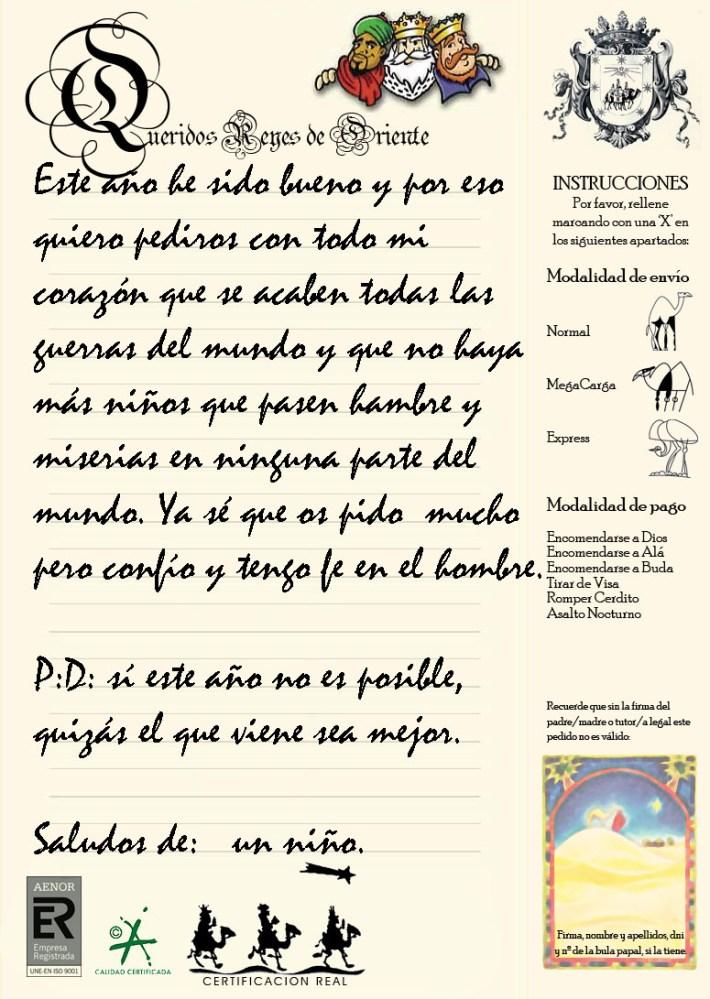 CARTA A LOS REYES MAGOS (2/2)