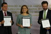 La PGR y OEA firman convenio contra delitos electorales
