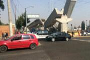 Colapsan trabes del Tren México-Toluca