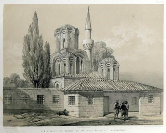 Άγιοι Απόστολοι. Λιθογραφία του C. Texier 1864